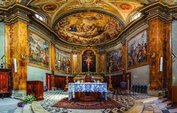 altare del duomo di San Lorenzo a Tivoli
